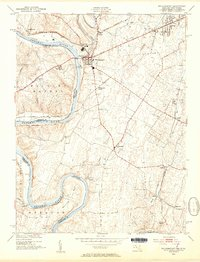 Download a high-resolution, GPS-compatible USGS topo map for Williamsport, MD (1954 edition)