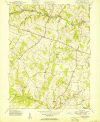 Download a high-resolution, GPS-compatible USGS topo map for Woodbine, MD (1950 edition)
