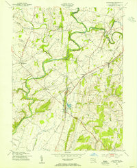 Download a high-resolution, GPS-compatible USGS topo map for Woodsboro, MD (1955 edition)