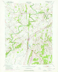 Download a high-resolution, GPS-compatible USGS topo map for Woodsboro, MD (1975 edition)