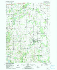 Download a high-resolution, GPS-compatible USGS topo map for Almont, MI (1991 edition)