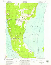 Download a high-resolution, GPS-compatible USGS topo map for Baie De Wasai, MI (1956 edition)
