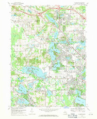 Download a high-resolution, GPS-compatible USGS topo map for Clarkston, MI (1971 edition)