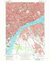 Download a high-resolution, GPS-compatible USGS topo map for Detroit, MI (1971 edition)