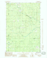 Download a high-resolution, GPS-compatible USGS topo map for Diffin, MI (1985 edition)
