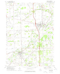 Download a high-resolution, GPS-compatible USGS topo map for Dundee, MI (1975 edition)