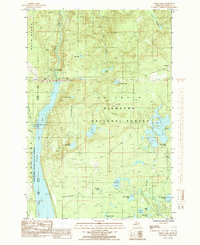 Download a high-resolution, GPS-compatible USGS topo map for Forest Lake, MI (1985 edition)