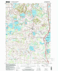 Download a high-resolution, GPS-compatible USGS topo map for Hamburg, MI (2000 edition)