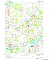 Download a high-resolution, GPS-compatible USGS topo map for Kent Lake, MI (1974 edition)