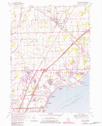 Download a high-resolution, GPS-compatible USGS topo map for New Haven, MI (1984 edition)
