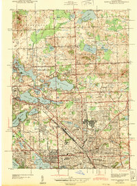 Download a high-resolution, GPS-compatible USGS topo map for Pontiac North, MI (1943 edition)