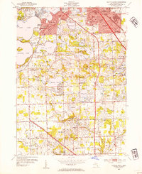 Download a high-resolution, GPS-compatible USGS topo map for Pontiac South, MI (1954 edition)