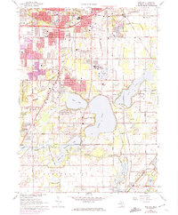 Download a high-resolution, GPS-compatible USGS topo map for Portage, MI (1974 edition)