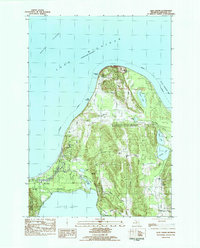 Download a high-resolution, GPS-compatible USGS topo map for Glen Arbor, MI (1984 edition)