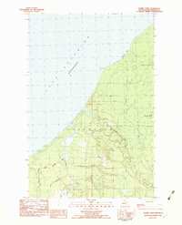 Download a high-resolution, GPS-compatible USGS topo map for Tenmile Point, MI (1983 edition)