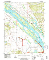 Download a high-resolution, GPS-compatible USGS topo map for Annada, MO (1996 edition)