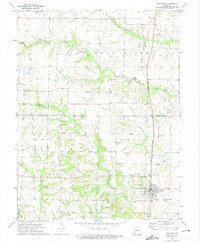 Download a high-resolution, GPS-compatible USGS topo map for Auxvasse, MO (1974 edition)