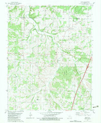 Download a high-resolution, GPS-compatible USGS topo map for Beach, MO (1983 edition)