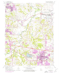 Download a high-resolution, GPS-compatible USGS topo map for Blue Springs, MO (1976 edition)