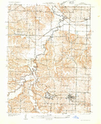 Download a high-resolution, GPS-compatible USGS topo map for Blue Springs, MO (1933 edition)