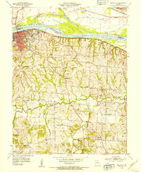 Download a high-resolution, GPS-compatible USGS topo map for Boonville, MO (1953 edition)
