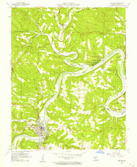 Download a high-resolution, GPS-compatible USGS topo map for Branson, MO (1957 edition)
