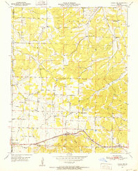 Download a high-resolution, GPS-compatible USGS topo map for Cabool NW, MO (1952 edition)