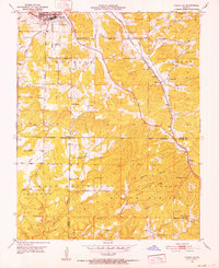 Download a high-resolution, GPS-compatible USGS topo map for Cabool SE, MO (1952 edition)