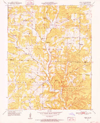Download a high-resolution, GPS-compatible USGS topo map for Cabool SW, MO (1952 edition)