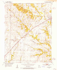 Download a high-resolution, GPS-compatible USGS topo map for Calhoun West, MO (1955 edition)
