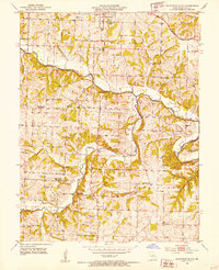 Download a high-resolution, GPS-compatible USGS topo map for California South, MO (1953 edition)