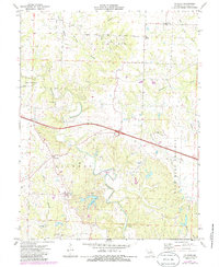 Download a high-resolution, GPS-compatible USGS topo map for Calwood, MO (1986 edition)