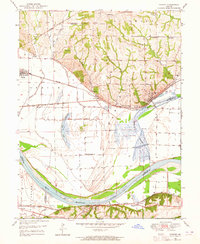 Download a high-resolution, GPS-compatible USGS topo map for Camden, MO (1964 edition)