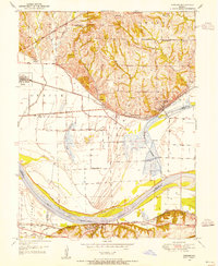Download a high-resolution, GPS-compatible USGS topo map for Camden, MO (1955 edition)