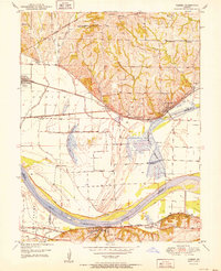 Download a high-resolution, GPS-compatible USGS topo map for Camden, MO (1951 edition)