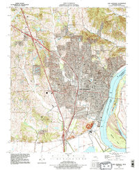 Download a high-resolution, GPS-compatible USGS topo map for Cape Girardeau, MO (1995 edition)