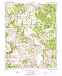 Download a high-resolution, GPS-compatible USGS topo map for Caplinger Mills, MO (1967 edition)