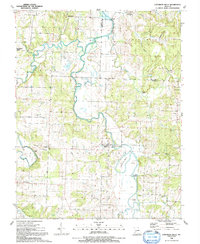 Download a high-resolution, GPS-compatible USGS topo map for Caplinger Mills, MO (1991 edition)