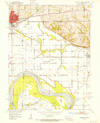 Download a high-resolution, GPS-compatible USGS topo map for Carrollton East, MO (1952 edition)