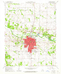 Download a high-resolution, GPS-compatible USGS topo map for Carthage, MO (1964 edition)