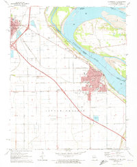 Download a high-resolution, GPS-compatible USGS topo map for Caruthersville, MO (1973 edition)