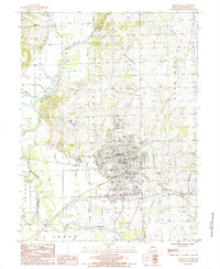Download a high-resolution, GPS-compatible USGS topo map for Chillicothe, MO (1985 edition)