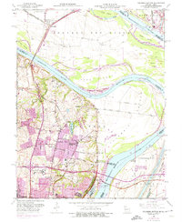 Download a high-resolution, GPS-compatible USGS topo map for Columbia Bottom, MO (1974 edition)
