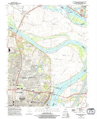 Download a high-resolution, GPS-compatible USGS topo map for Columbia Bottom, MO (1995 edition)
