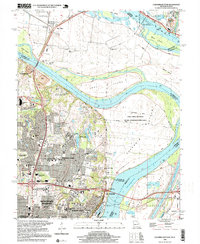 Download a high-resolution, GPS-compatible USGS topo map for Columbia Bottom, MO (1999 edition)