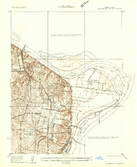 Download a high-resolution, GPS-compatible USGS topo map for Columbia Bottom, MO (1935 edition)