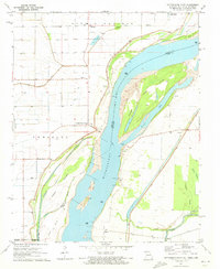 Download a high-resolution, GPS-compatible USGS topo map for Cottonwood Point, MO (1973 edition)