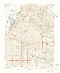 Download a high-resolution, GPS-compatible USGS topo map for Creve Coeur, MO (1940 edition)