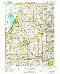 Download a high-resolution, GPS-compatible USGS topo map for Creve Coeur, MO (1966 edition)