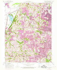 Download a high-resolution, GPS-compatible USGS topo map for Creve Coeur, MO (1969 edition)